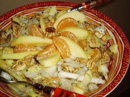 Recette de salade d'endives aux fruits