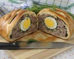 Recette pâté de pâques aux 3 viandes et oeufs