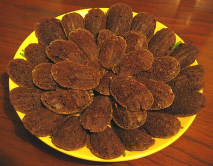 Recette de madeleines au chocolat noir et à l'orange