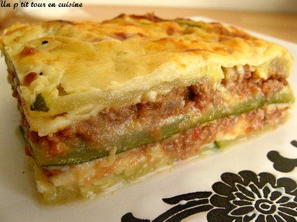 Recette de lasagnes de courgettes sans feuilles de lasagnes