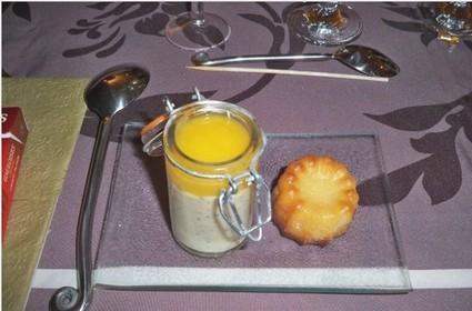 Recette de mousse de fruits de la passion et coulis de mangue
