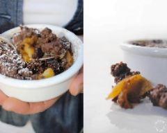 Recette crumble fondant au chocolat et aux pommes