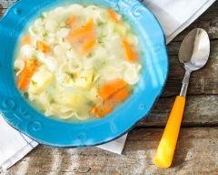 Recette bouillon express aux petits légumes et vermicelles