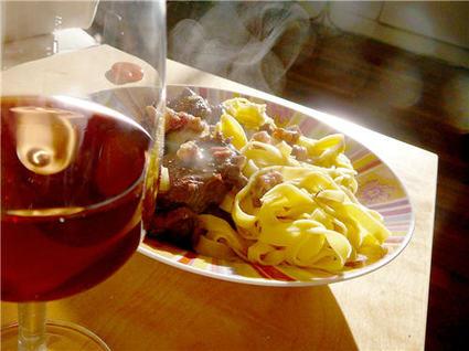 Recette boeuf bourguignon rapide parfumé au persil plat