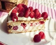 Recette gâteau au fromage blanc framboisé