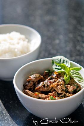 Recette de bœuf angus piquant au basilic thaï