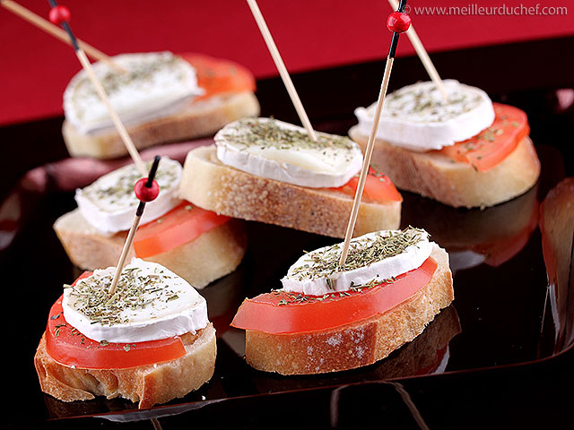 Tapas au fromage de chèvre et tomate  fiche recette avec photos ...