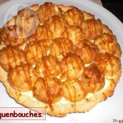 Recette tarte aux profiteroles et caramel – toutes les recettes ...