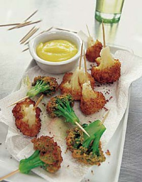 Chou-fleur et brocolis frits pour 4 personnes