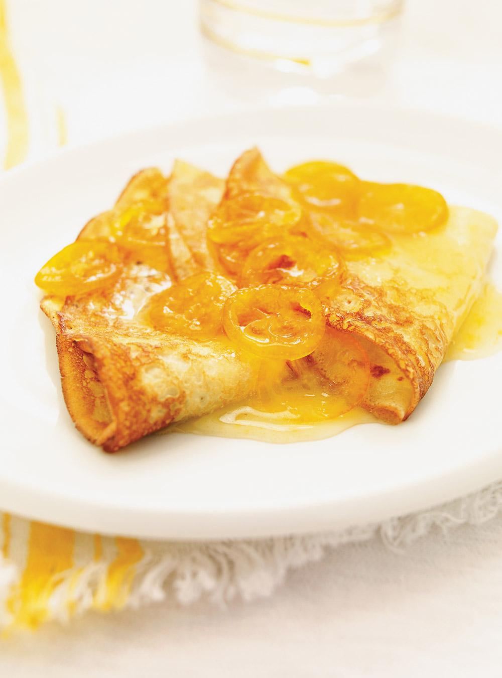 Crêpes suzette aux kumquats | ricardo