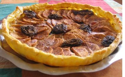 Recette de tarte pommes pruneaux