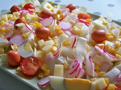 Recette de salade méli-mélo aux endives