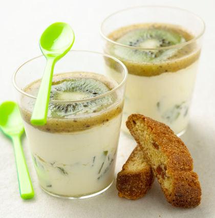 Recette de mousse de kiwi de l'adour au chocolat blanc