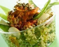 Recette salade de quinoa au poulet paprika