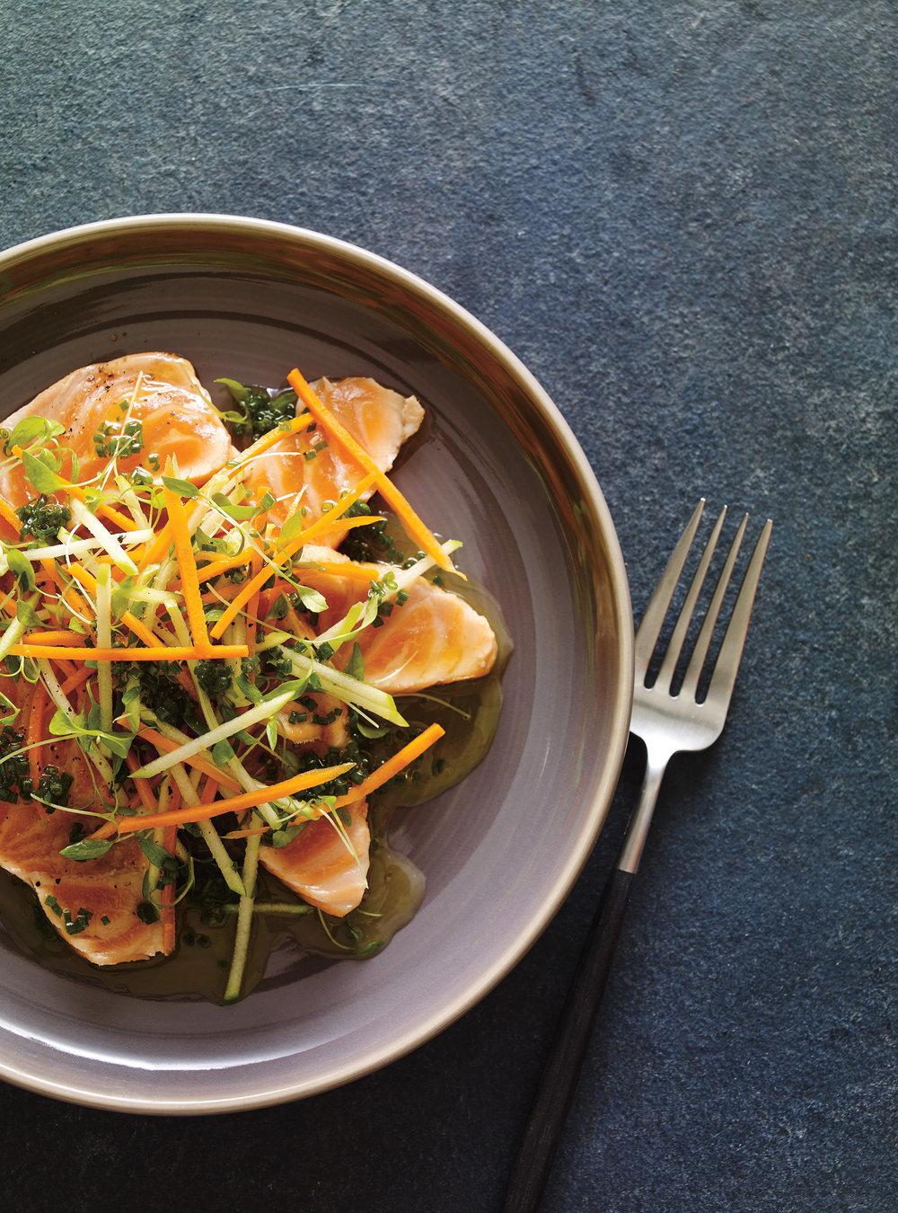 Tataki de saumon à la lime et à la clémentine | ricardo