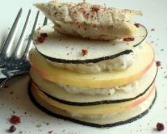 Recette millefeuille de radis noir et pommes aux rillettes de ...
