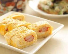Recette omelette roulée au surimi