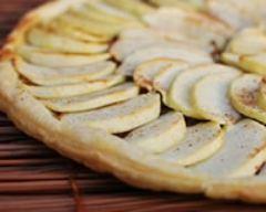 Recette tarte fine pommes spéculoos