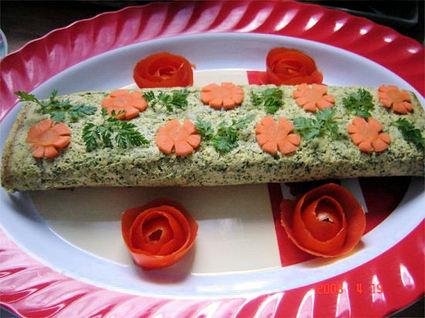 Recette de roulé de saumon au brocoli et au boursin