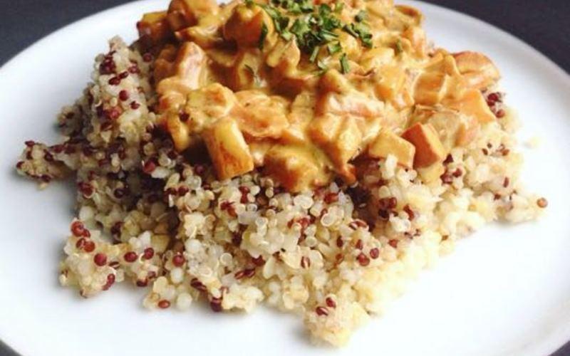 Recette Legumes Lait De Coco Curry Et Quinoa Pas Chere Et Simple