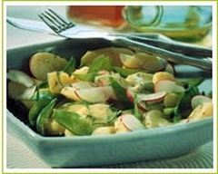 Recette salade de pommes de terre aux pois gourmands et radis ...