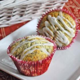 Muffins au citron, poires et graines de pavot pour 12 personnes ...