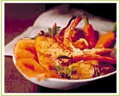 Recette poêlée de fruits de mer sur lit de poires