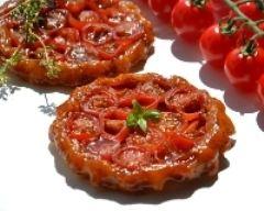 Recette tartelettes tatin aux tomates cerises et au caramel balsamique