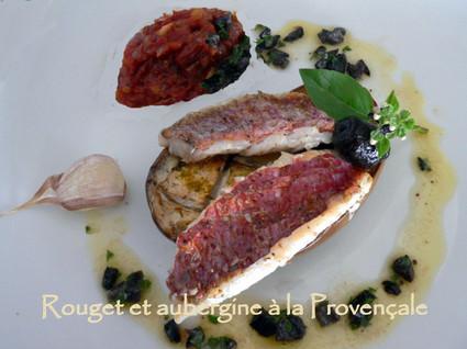 Recette de rouget et aubergine à la provençale