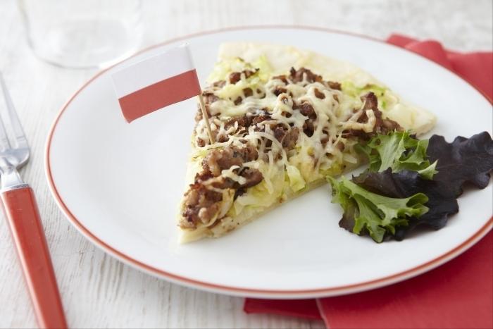 Recette de pizza aux saveurs polonaises facile et rapide