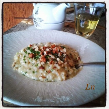 Recette de risotto crémeux aux noisettes et au monbazillac