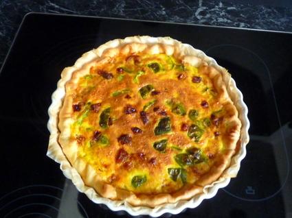 Recette de tarte poivrons-chorizo