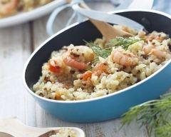 Recette quinoa aux crevettes et safran