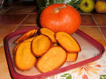 Recette de petites madeleines au potiron