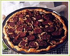 Recette tarte au boudin noir et aux pommes