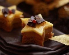 Recette etoiles de foie gras, pain d'épices et mangues