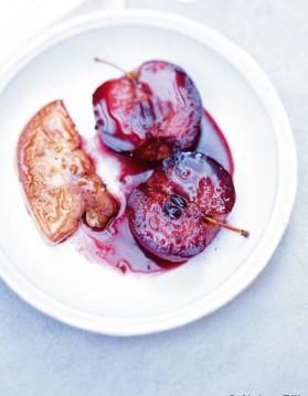 Foie gras poêlé pommes-cassis pour 6 personnes