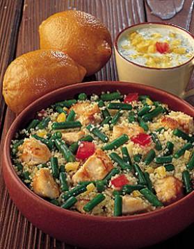 Salade de couscous aux haricots verts pour 4 personnes