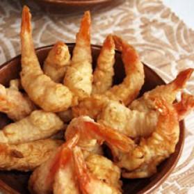 Crevettes tempura à la noix de coco pour 4 personnes