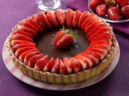 Recette de tarte chocolat-fraises
