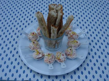Recette de petites cuillères de rillettes aux deux saumons