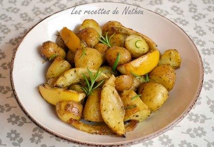 Recette de pommes de terre au four, citron et romarin