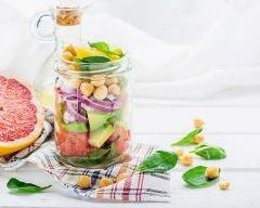 Recette salade jar au pamplemousse et à l'avocat