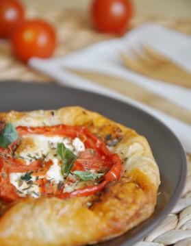 Feuilletés tomate et fromage de chèvre à la provençale pour 4 ...