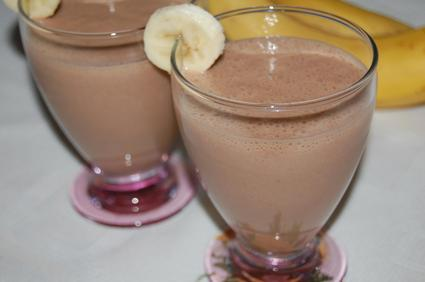 Recette de smoothie banane-nutella-amande