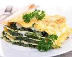 Recette lasagnes aux épinards allégées