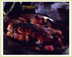 Recette canard aux myrtilles et aux échalotes confites