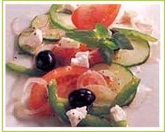 Recette salade grecque aux légumes d'été