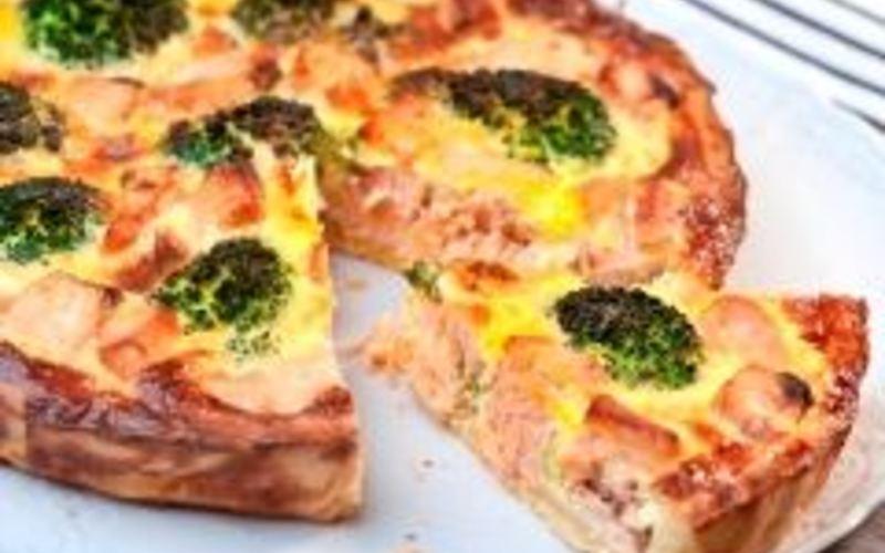 Recette tarte saumon- brocolis et chévre ( à tomber!) économique ...