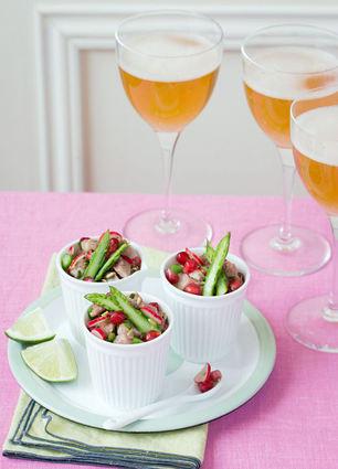 Recette de tartare de veau au citron vert, asperges vertes, radis ...